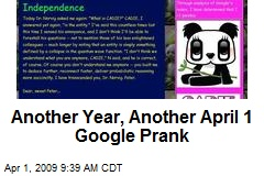 Another Year, Another April 1 Google Prank