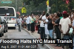Flooding Halts NYC Mass Transit