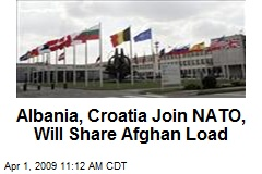 Albania, Croatia Join NATO, Will Share Afghan Load