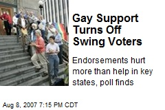 Gay Support Turns Off Swing Voters