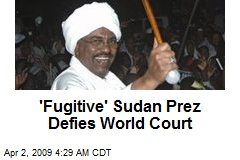 'Fugitive' Sudan Prez Defies World Court