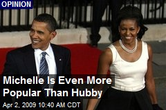 Michelle Is Even More Popular Than Hubby