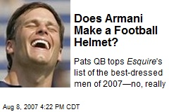 Does Armani Make a Football Helmet?