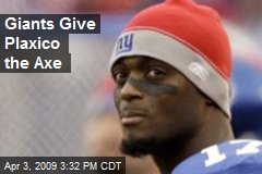Giants Give Plaxico the Axe