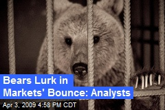 Bears Lurk in Markets' Bounce: Analysts