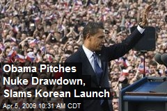 Obama Pitches Nuke Drawdown, Slams Korean Launch