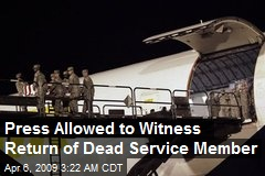Press Allowed to Witness Return of Dead Service Member
