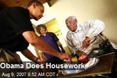 Obama Does Housework