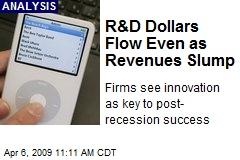 R&D Dollars Flow Even as Revenues Slump