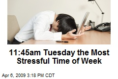 11:45am Tuesday the Most Stressful Time of Week