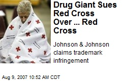 Drug Giant Sues Red Cross Over ... Red Cross