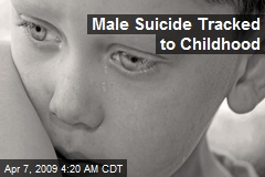 Male Suicide Tracked to Childhood