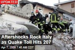 Aftershocks Rock Italy as Quake Toll Hits 207