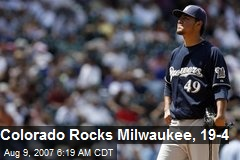 Colorado Rocks Milwaukee, 19-4