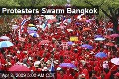 Protesters Swarm Bangkok
