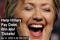 Help Hillary Pay Debt, Win Idol Tickets!