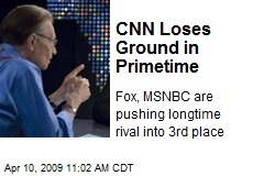 CNN Loses Ground in Primetime