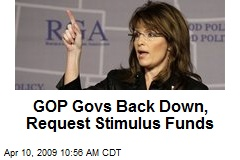 GOP Govs Back Down, Request Stimulus Funds