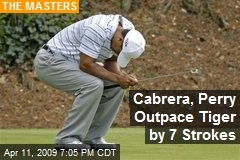 Cabrera, Perry Outpace Tiger by 7 Strokes
