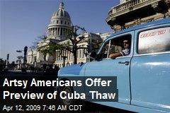 Artsy Americans Offer Preview of Cuba Thaw