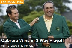 Cabrera Wins in 3-Way Playoff