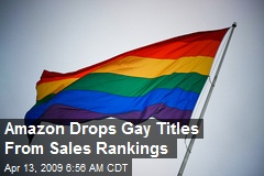 Amazon Drops Gay Titles From Sales Rankings