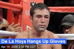 De La Hoya Hangs Up Gloves