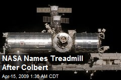 NASA Names Treadmill After Colbert