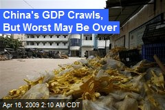 China's GDP Crawls, But Worst May Be Over