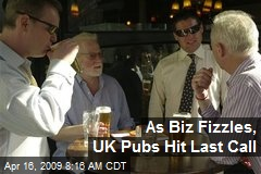 As Biz Fizzles, UK Pubs Hit Last Call