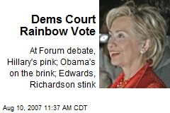 Dems Court Rainbow Vote