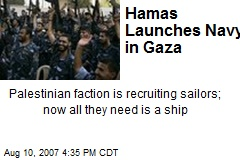 Hamas Launches Navy in Gaza
