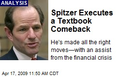 Spitzer Executes a Textbook Comeback