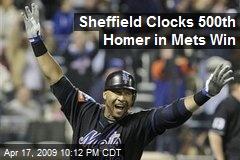 Sheffield Clocks 500th Homer in Mets Win