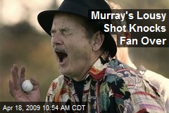 Murray's Lousy Shot Knocks Fan Over