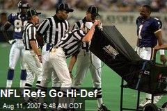 NFL Refs Go Hi-Def