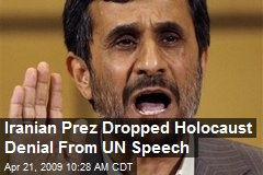 Iranian Prez Dropped Holocaust Denial From UN Speech