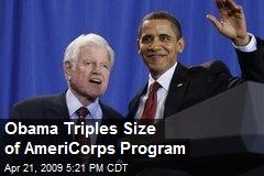 Obama Triples Size of AmeriCorps Program