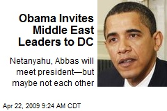 Obama Invites Middle East Leaders to DC