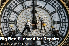 Big Ben Silenced for Repairs