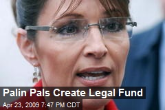 Palin Pals Create Legal Fund