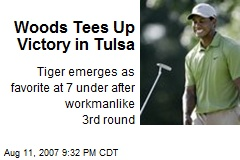 Woods Tees Up Victory in Tulsa