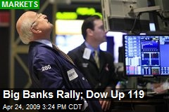 Big Banks Rally; Dow Up 119