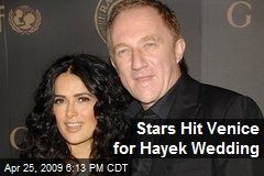 Stars Hit Venice for Hayek Wedding