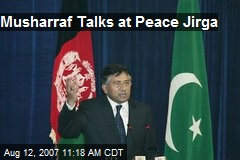 Musharraf Talks at Peace Jirga