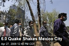 6.0 Quake Shakes Mexico City