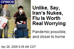 Unlike, Say, Iran's Nukes, Flu Is Worth Real Worrying