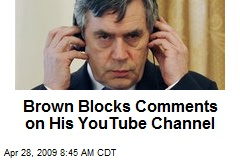 Brown Blocks Comments on His YouTube Channel