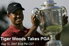 Tiger Woods Takes PGA