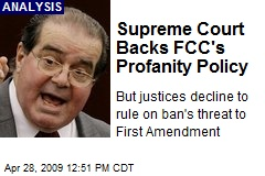 Supreme Court Backs FCC's Profanity Policy